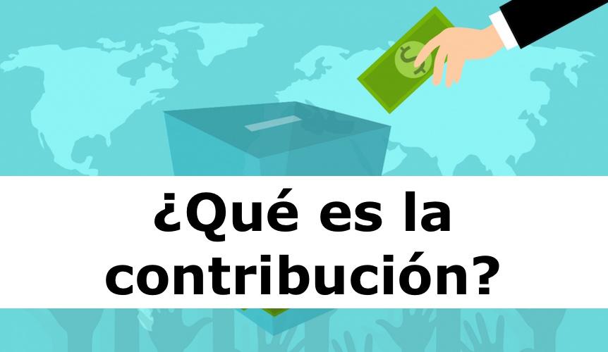 Definición de contribución